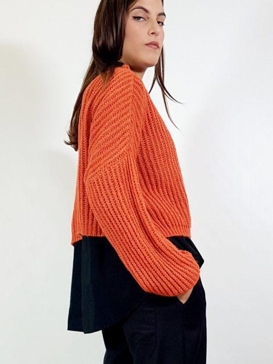 maglione-crop-arancio